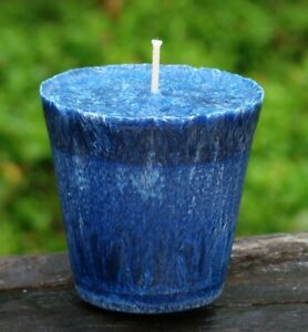 8 pack 160 hr ROYAL BLUE CITRONELLA VOTIVE Eco Candles INSECT MOZZIE REPELLENT
