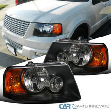 For 03-06 Ford Expedition Replacement Black Headlights Driving Head Lamps Pair