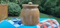 Vintage, Handmade, Pottery Crock With Lid