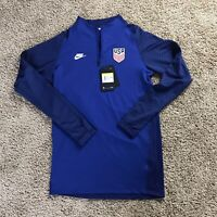 2021 Nike Dri-Fit USA USMNT 1/4 Zip Training Top CD2198-455 Mens Size SMALL $80