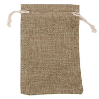 1/10pcs Burlap Natural Linen Jute Sack Jewelry Pouch Bags Gift Gifts DrawstrI