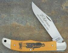 SCHRADE + USA SCRIMSHAW MADE 1982-84 THOMAS JEFFERSON JUMBO LOCKBACK KNIFE SC500