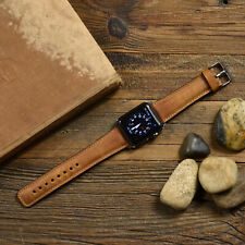 Genuine Brown Leather Apple Watch Band 42mm, 38mm, 40mm, 44mm for All Series
