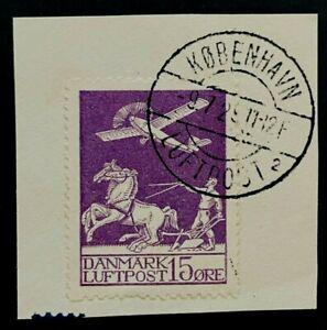 CLASSIC 15 ORE DENMARK DANMARK LUFTPOST VF USED B701.21 START $0.99