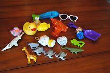 Used Summer Bath Tub POOL Toy Lot Rubber Ducks Heart Sunglasses Shovel Turtles
