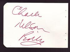 Charles Nelson Reilly (d.2007) Signed Album Page Autographed Actor Lidsville
