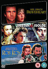 BRAVEHEART / TRISTAN AND ISOLDE / ROB ROY - DVD - REGION 2 UK