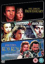 BRAVEHEART / TRISTAN AND ISOLDE / ROB ROY - DVD - REGION 2 UK