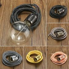 E27 Sokel Edison Lampenfassung Halter Lampenfuß mit 2/3/4M 3 adrig Textilkabel