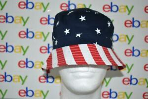 The Children's Place American Stars & Stripes Bucket Hat Youth L/G-XL/TG 8+NWT