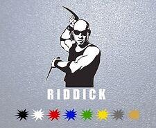 Riddick,Vin Diesel STICKER PEGATINA DECAL VINYL AUTOCOLLANT AUFKLEBER