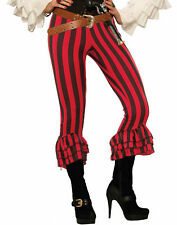 Renegade Ruby Red Black Pirate Buccaneer Pirate Pants Costume Accessory-Std