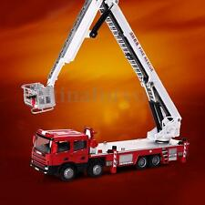 New 1:50 Scale Diecast Aerial Fire Truck Construction Vehicle Cars Model Toys