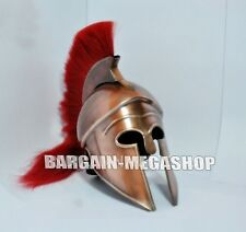 GREEK CORINTHIAN  WITH RED PLUME ARMOUR MEDIEVAL KNIGHT SPARTAN HELMET