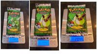 🔥 3 Pokemon 1st Edition Jungle Booster PACKS Sealed PSA 10 GEM MINT HOLO HEAVY