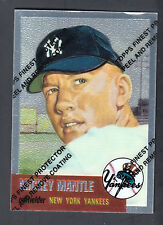 Mickey Mantle 1996 Topps Finest Reprints card #3 1953 Topps