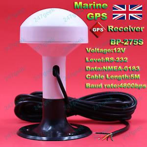 🇬🇧 Marine GPS Receiver Boat Yacht Antenna Module RS232 Serial NMEA0183 4800 UK