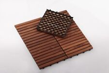 Premium Oiled Teak Tiles Indoor/Outdoor 9 slats, 10 pieces per box