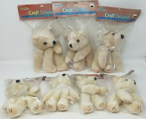 Lot of 7 VTG Darice Large Bear Parts for Craft Doll Making Plush Heads & Limbs