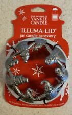 Yankee Candle Snowman Matte Silver Illuma Lid Candle Topper Retired Rare