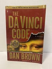 The Da Vinci Code by Dan Brown. Large Print Edition.