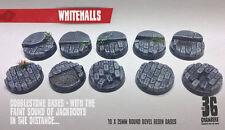 Whitehalls 10 x 25mm round bevel resin bases