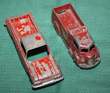 2 Antique Tootsietoys - Pressed Metal - Chevy El Camino & Delivery Truck w/Decal