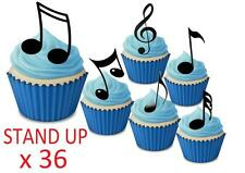 Music Notes STAND UP Cupcake Fairy Toppers Edible Rice Paper Decorations edible