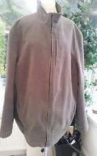 mens brown faux suede jacket by Burton size XL - VGC