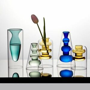 Nordic Home Desk Decoration Crystal Vases for Interior Hydroponic Flower Stained