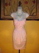 NWT  bebe Blush Pink Cotton & Silk Sweetheart Dress Size M