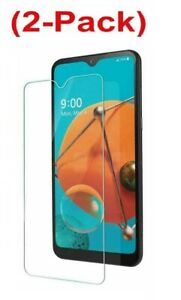2 Pack Screen Protector Compatible with LG K51/Q51 Tempered Glass Case Friendly