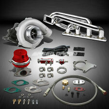 T04 .63AR 400+HP BOOST 6PC TURBO CHARGER+MANIFOLD KIT FOR VOLVO B20/B23/B230 16V