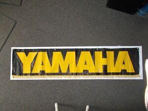 Vintage Yamaha Dealer Only Motorcycle Banner Original Hollywood Banner Sign