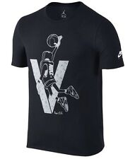 Nike sz S  JORDAN AJ 5 V Retro Toggle T-Shirt  NEW 801117 010 Black w Silver
