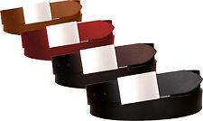 Cintura in cuoio di toro - 35 mm - con fibbia a placca