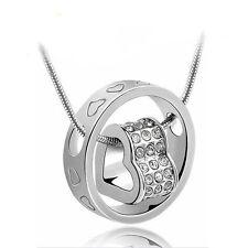Runde Modeschmuck-Halsketten aus Metall-Legierung mit Liebes- & Herz-Themen