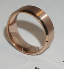 New 8mm Stainless Steel Ring Man Women Band Rose Gold Size 7