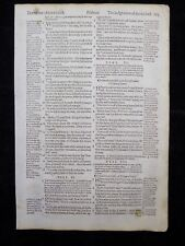 1597 GENEVA  BIBLE LEAF PAGE * BOOK OF PSALMS 10:1-17:12 * GOD'S WORD * VGC