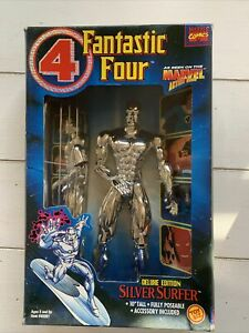 Marvel Fantastic Four Silver Surfer Deluxe 10 Inch Toy Biz Poseable Figure