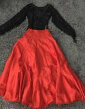 NEW Free People ONE Party Red Satin Mermaid Maxi Skirt Size 8