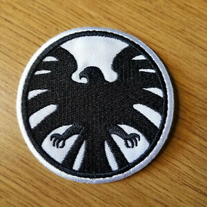 Avengers/Captain Marvel White/Black Logo Patch 3 inches tall