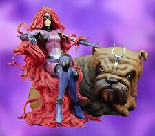 XM Studios Marvel Inhumans Medusa w/Lockjaw 1:4 Scale Statue - Black Bolt