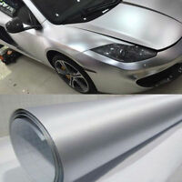 Silver Brushed Film Car Wrap Vinyl Body Decor Air Release Protector 60''x20''