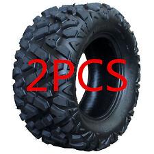 Nb 2pcs 25X10-12 Atv Tires 25X10X12 Tubeless 6 Ply Rear Tire for Utv Gokart
