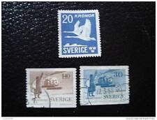 SUEDE - timbre - yvert et tellier aérien n°7 à 9 obl - stamp sweden