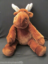 """Moose Plush Kohls 14"""" Cookie Laura Numeroff If You Give a Muffin Stuffed Toy"""
