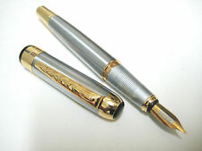 Stately Art Deco Stainless steel Fountain pen fh250