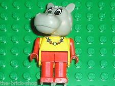 LEGO FABULAND figure minifig hippo ref x591c02 / sets 3675 3622 3662 3798