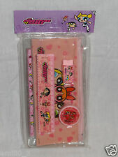 NEW IN PACKAGE PINK 5 -PCS POWERPUFF GIRLS STUDY KIT PENCIL, RULER, ERASER
